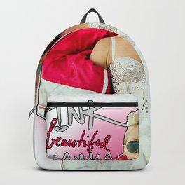 pink beautiful trauma Backpack