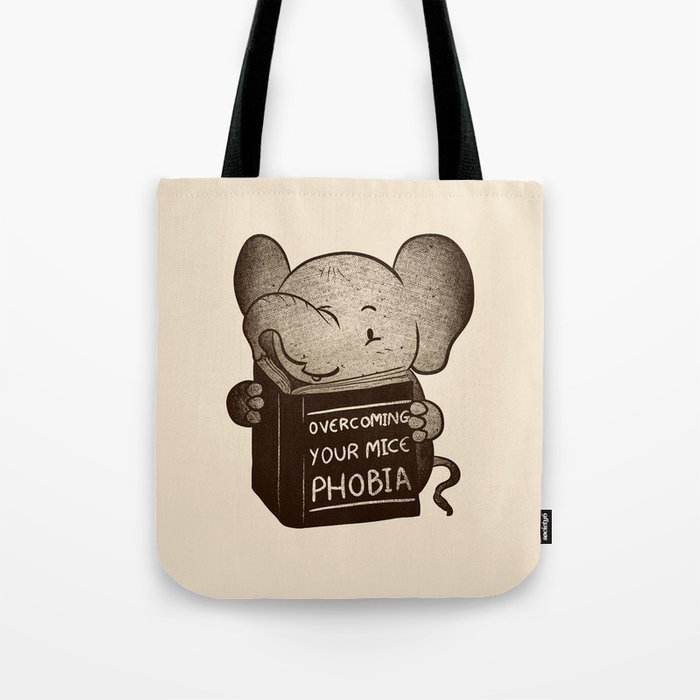 Elephant Overcoming Your Mice Phobia Tote Bag