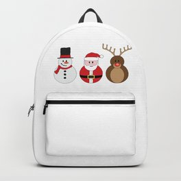 Santa Claus, Rudolph the Red Nosed Reindeer & Frosty Backpack