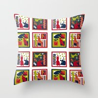 matisse Throw Pillows featuring Matisse Full Design by Marilyn Petersen
