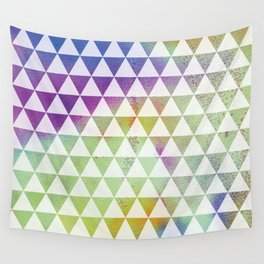Geomteric watercolour Wall Tapestry