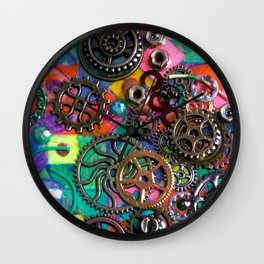 Chase the Gears Wall Clock