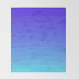 Cobalt Light Blue gradient Throw Blanket
