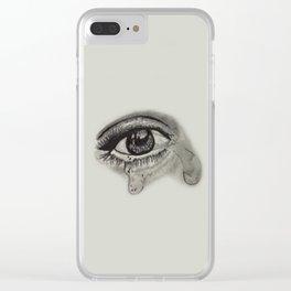 Cryin Eyes Clear iPhone Case