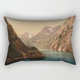 """""""Lofoten Trollfjord Norway"""" Rectangular Pillow"""