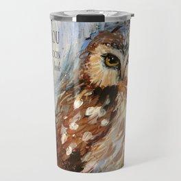 I Love You To The Moon And Back Owl Travel Mug