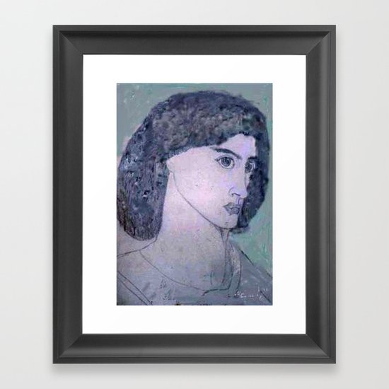 JANE BURDEN STUDY Framed Art Print
