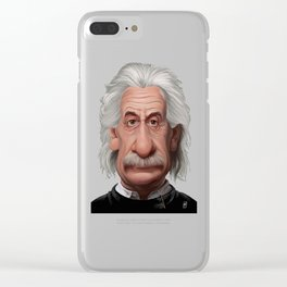Celebrity Sunday ~ Albert Einstein Clear iPhone Case