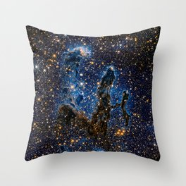 Pillars of Creation (Infrared) Throw Pillow
