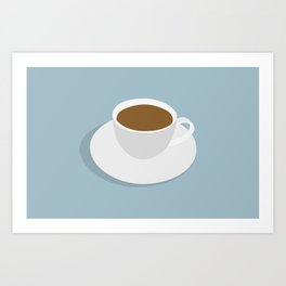 one more cup Art Print