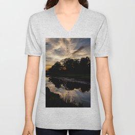Reflective Sunset Unisex V-Neck