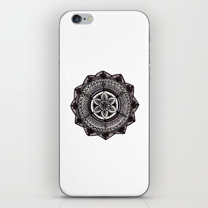Shades of Grey Mandala iPhone Skin