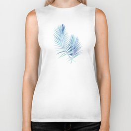 Feathery Palm Leaves Biker Tank