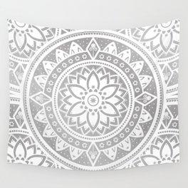 Mandala Silver Spirit Spiritual Zen Bohemian Hippie Yoga Mantra Meditation Wall Tapestry
