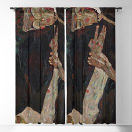 Der Lyriker (The Lyricist) by Egon Schiele (1911) Blackout Curtain