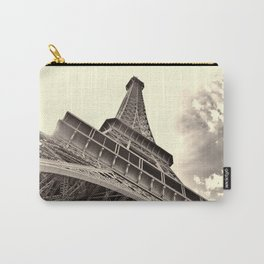The famous Eiffel Tower in Paris, France in sepia. Vintage photography Carry-All Pouch