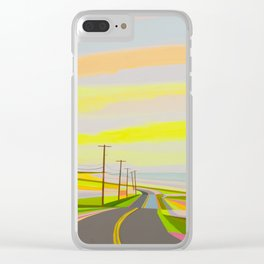 Sunrise on Old montauk Highway Clear iPhone Case