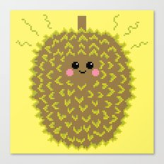 Happy Pixel Durian Canvas Print
