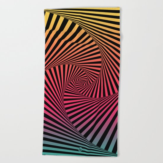 Summer Sunset Twista Beach Towel