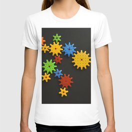 Colorful gears T-shirt