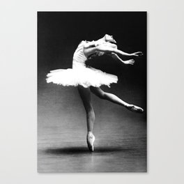 Swan Lake Ballet Magnificent Natalia Makarova black and white photograph  Canvas Print
