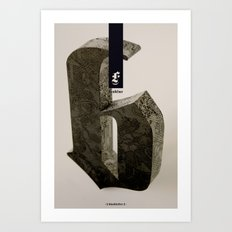 Blackletter Art Print