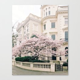 Spring in Notting Hill, London Canvas Print