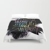 feminism Duvet Covers featuring Feminism  by Christina