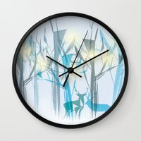 xmas Wall Clocks featuring xmas by Valentina Cobetto