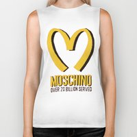 moschino Biker Tanks featuring MOSCHINO  by Claudio Velázquez