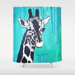 Giraffe in the Rain Shower Curtain