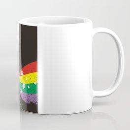 Grunge rainbow rocket unicorn space dust Coffee Mug
