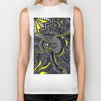 chaos Biker Tanks featuring Chaos by Lauren Moore
