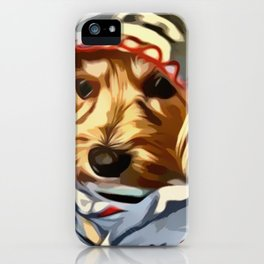 Copper the Havapookie with Blanket iPhone Case