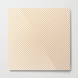 Chamois Polka Dots Metal Print