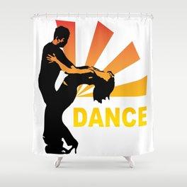 dancing couple silhouette - brazilian zouk Shower Curtain