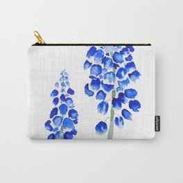 2 abstract blue grape hyacinth watercolor Carry-All Pouch