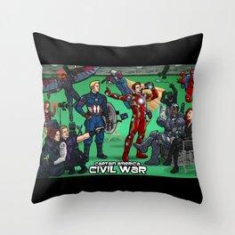 Archer-Style Civil War  Throw Pillow
