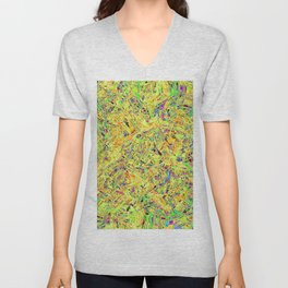 Abstract RR QQF Unisex V-Neck