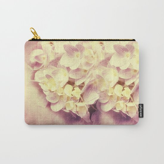 HYDRANGEA IN VANILLA AND PINK Carry-All Pouch
