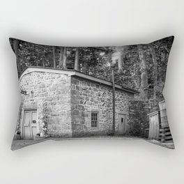 Steam Engine House at Hagley Yard Powder Mill Delaware Rectangular Pillow