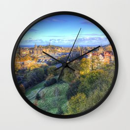 Edinburgh City Panorama Wall Clock