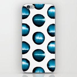 Divine teal dots iPhone Skin