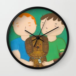 Dean, Steve and Luci Wall Clock