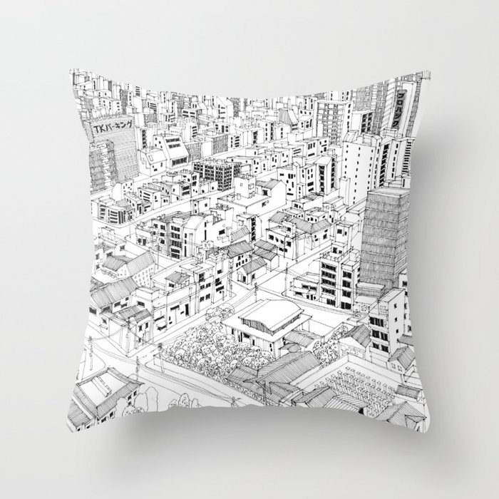 Asakusa, Japan Throw Pillow