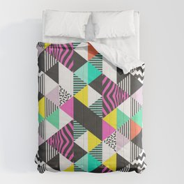 Modern Triangles Comforters
