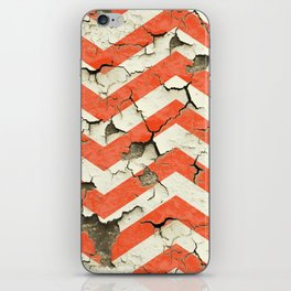 Peeling Chevrons Orange iPhone Skin