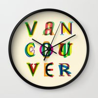 vancouver Wall Clocks featuring Vancouver by Fimbis