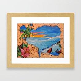 Break Through to Paradise Framed Art Print