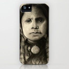 Portrait of Standing Holy iPhone Case